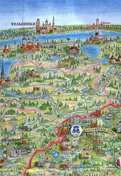 Belarus Tourist Map part3 Braslav Lakes